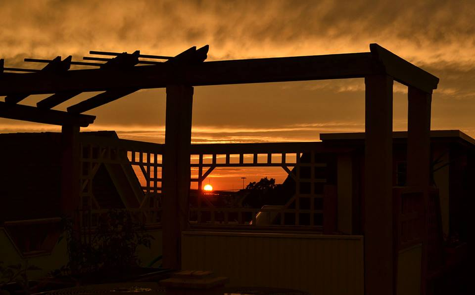 Sunset from the Northwood Inn rooftop